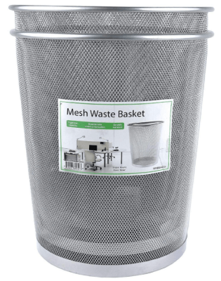 greenco mesh wastebasket trash can