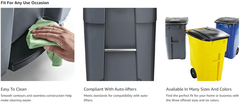 Outdoor Garbage Cans with Locking Lids