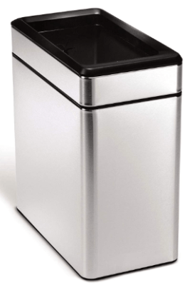 open top garbage can
