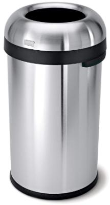 simplehuman bullet open top trash can