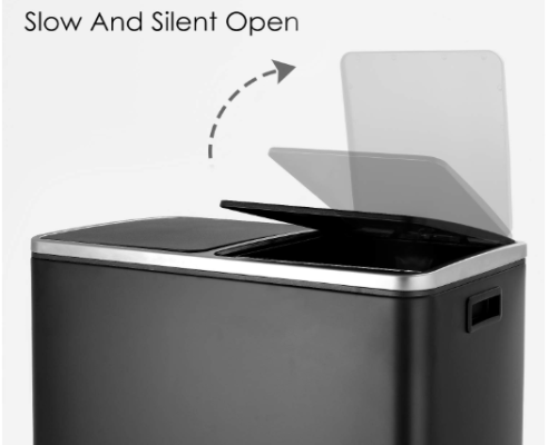 dual compartment trash can