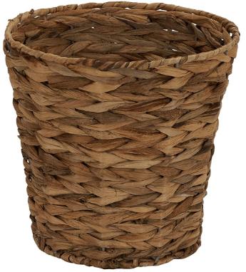 wicker trash basket