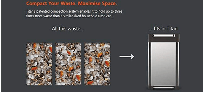 titan trash can compactor