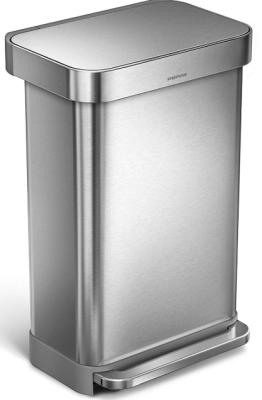 simplehuman 45l rectangular step trash can