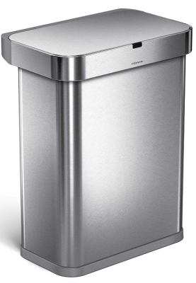 simplehuman automatic trash can
