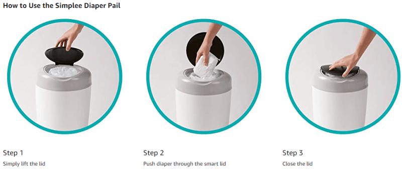 Tommee Tippee Simplee Diaper Pail