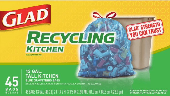 Glad Tall Kitchen Drawstring Recycling Bags