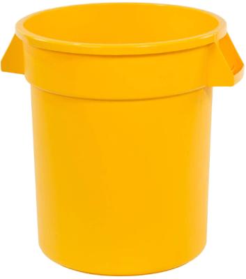 yellow trash bin