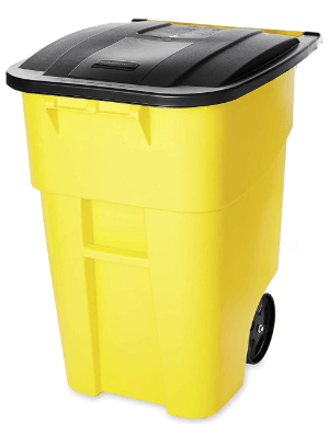 50 gallon trash can on wheels