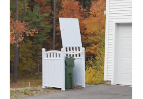 outdoor garbage can enclosure