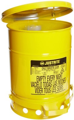 Galvanized Yellow Safety Cans