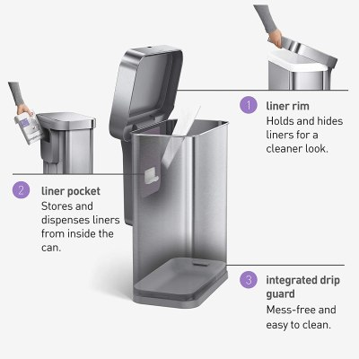 simplehuman Automatic Trash Cans
