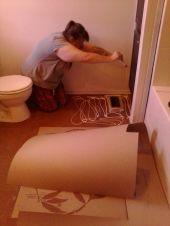 finishing the ramboard floor cover