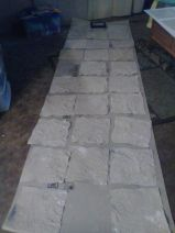 laid out to dry flat