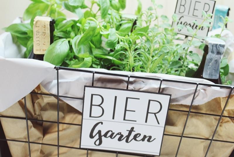 Diy Biergarten Ein Geschenk Zum Geburtstag Inkl Druckvorlage