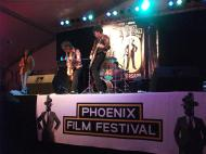 Local bands performed on stage at the 10th Annual Phoenix Film Festival