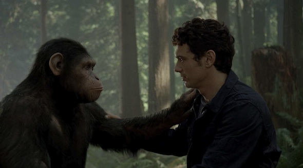 Caesar and Will (James Franco)