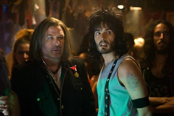 "(L-r) ALEC BALDWIN as Dennis Dupree and RUSSELL BRAND as Lonny in New Line Cinema's rock musical ""ROCK OF AGES,"" a Warner Bros. Pictures release. © 2012 Warner Bros. Entertainment Inc. All Rights Reserved."