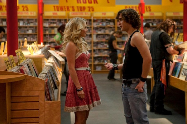 "(L-r) JULIANNE HOUGH as Sherrie Christian and DIEGO BONETA as Drew Boley in New Line Cinema's rock musical ""ROCK OF AGES,"" a Warner Bros. Pictures release. © 2012 Warner Bros. Entertainment Inc. All Rights Reserved."