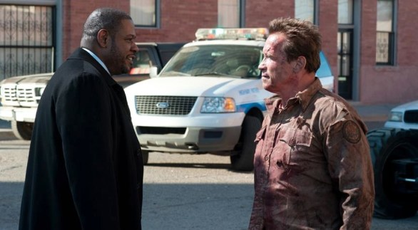 Forest Whitaker and Arnold Schwarzenegger in The Last Stand