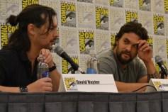 David Hayter and Jason Momoa at the Wolves panel at San Diego Comic Con 2013