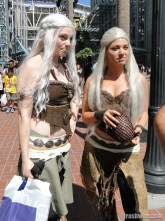 Khaleesi cosplay at Comic Con 2014
