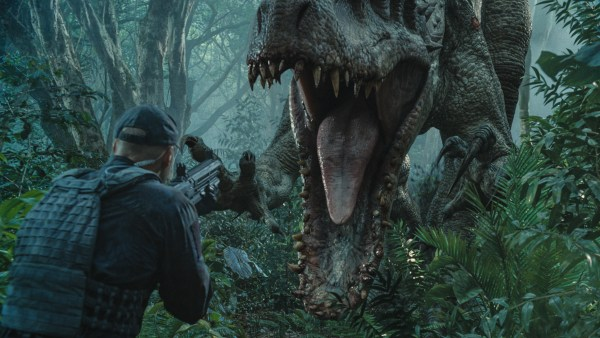 The Indominus rex readies her attack in ?Jurassic World?. Steven Spielberg returns to executive produce the long-awaited next installment of his groundbreaking ?Jurassic Park? series. Colin Trevorrow directs the epic action-adventure, and Frank Marshall and Patrick Crowley join the team as producers.