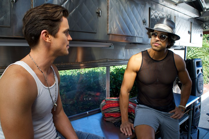 MATT BOMER as Ken and ADAM RODRIGUEZ as Tito in MAGIC MIKE XXL