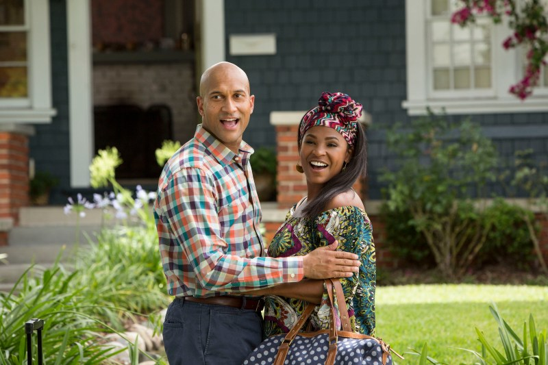 "KEEGAN-MICHAEL KEY as Clarence and NIA LONG as Hannah in New Line Cinema's action comedy ""KEANU,"" a Warner Bros. Pictures release."