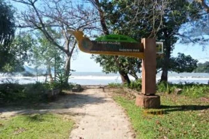 La idílica entrada al Parque Nacional de Bako