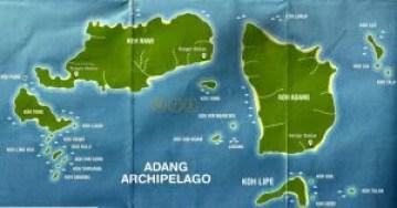 Koh Lipe está en el archipiélago de Tarutao