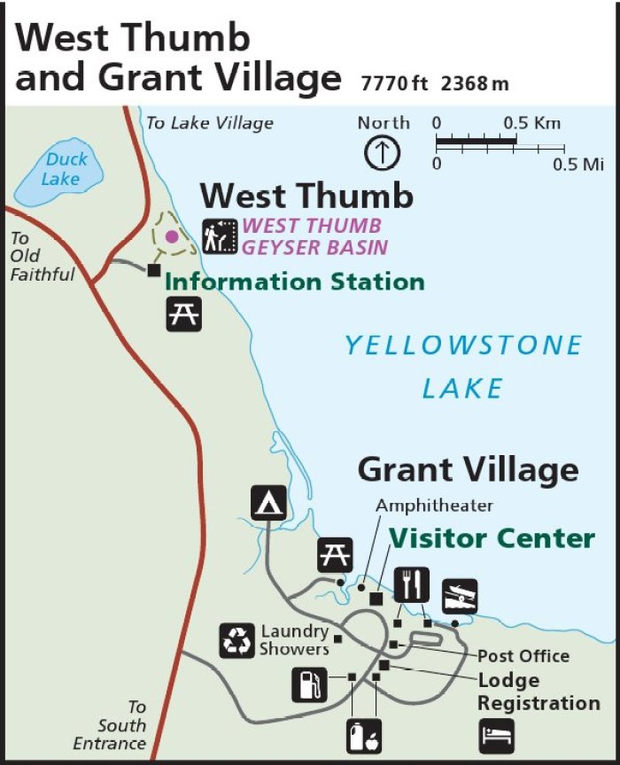 Yellowstone West Thumb map