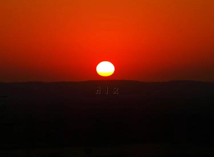 Puesta de sol en Botswana