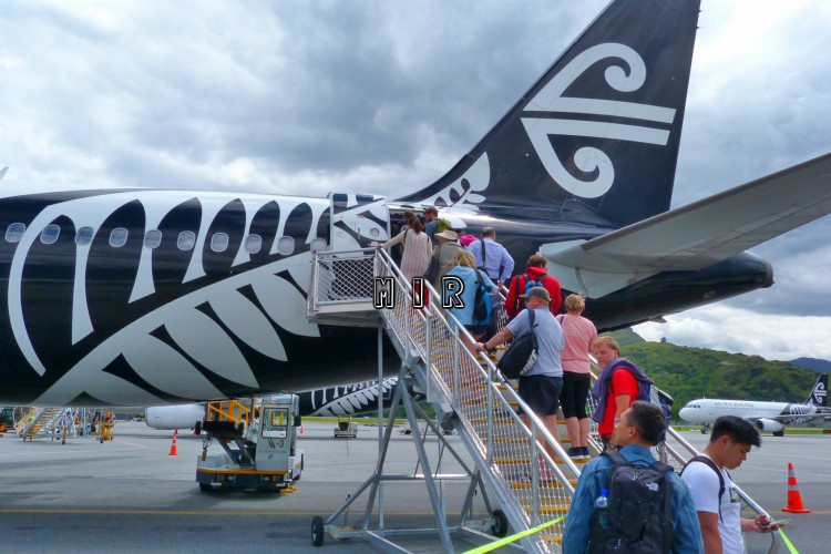 Embarcando con Air New Zealand