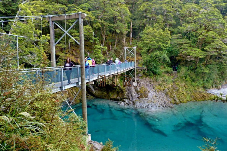 Blue pools, ruta de Haast a Wanaka