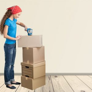 41572814 - moving house, moving office, box.