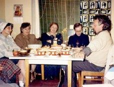 С Н.М.Демуровой, Т.Я.Казавчинской, А.Б.Биргером, М.Маргулисом. Москва, ул.Горького, конец 80-х