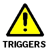 Trigger Warning yellow triangle