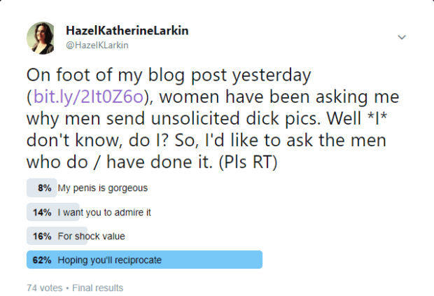 Twitter Dick Pic Poll