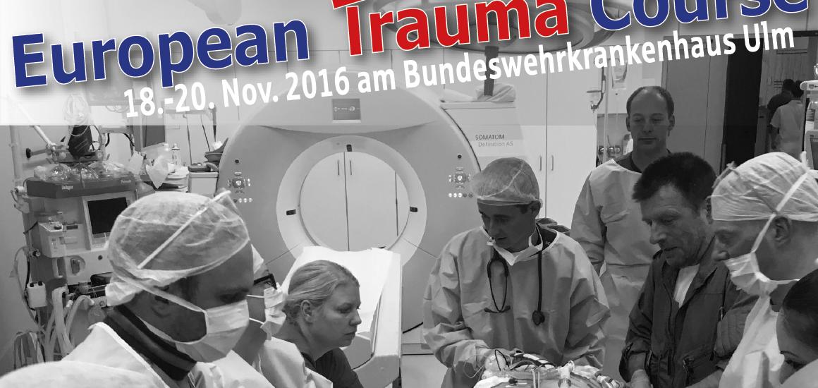 Auch in diesem Jahr findet wieder ein European Trauma Course zur interdisziplinären Versorgung schwerverletzter Patienten mit einem Schockraum-Team statt. Erstmals werden wir den bisher international gehaltenen Kurs ganz auf deutsch anbieten. European Trauma Course Ulm