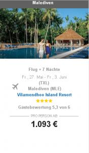 malediven 1093 Euro