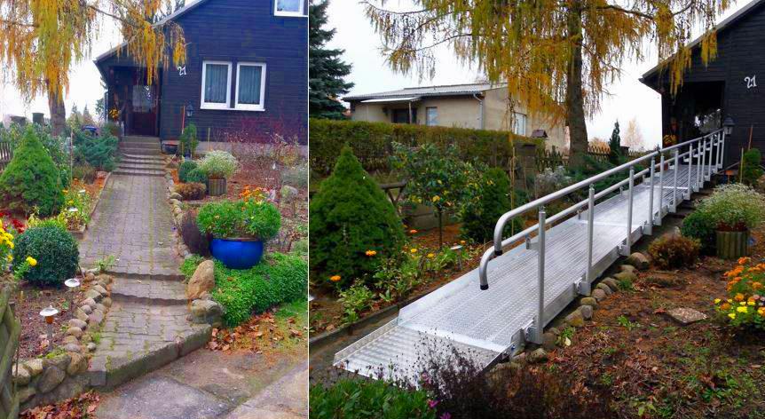 barrierefreier Zugang zum Haus