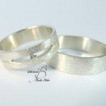 Hochzeitsringe Diamant Silber
