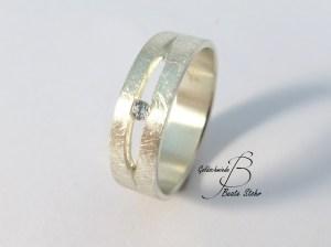 Antragsring Silber Diamant