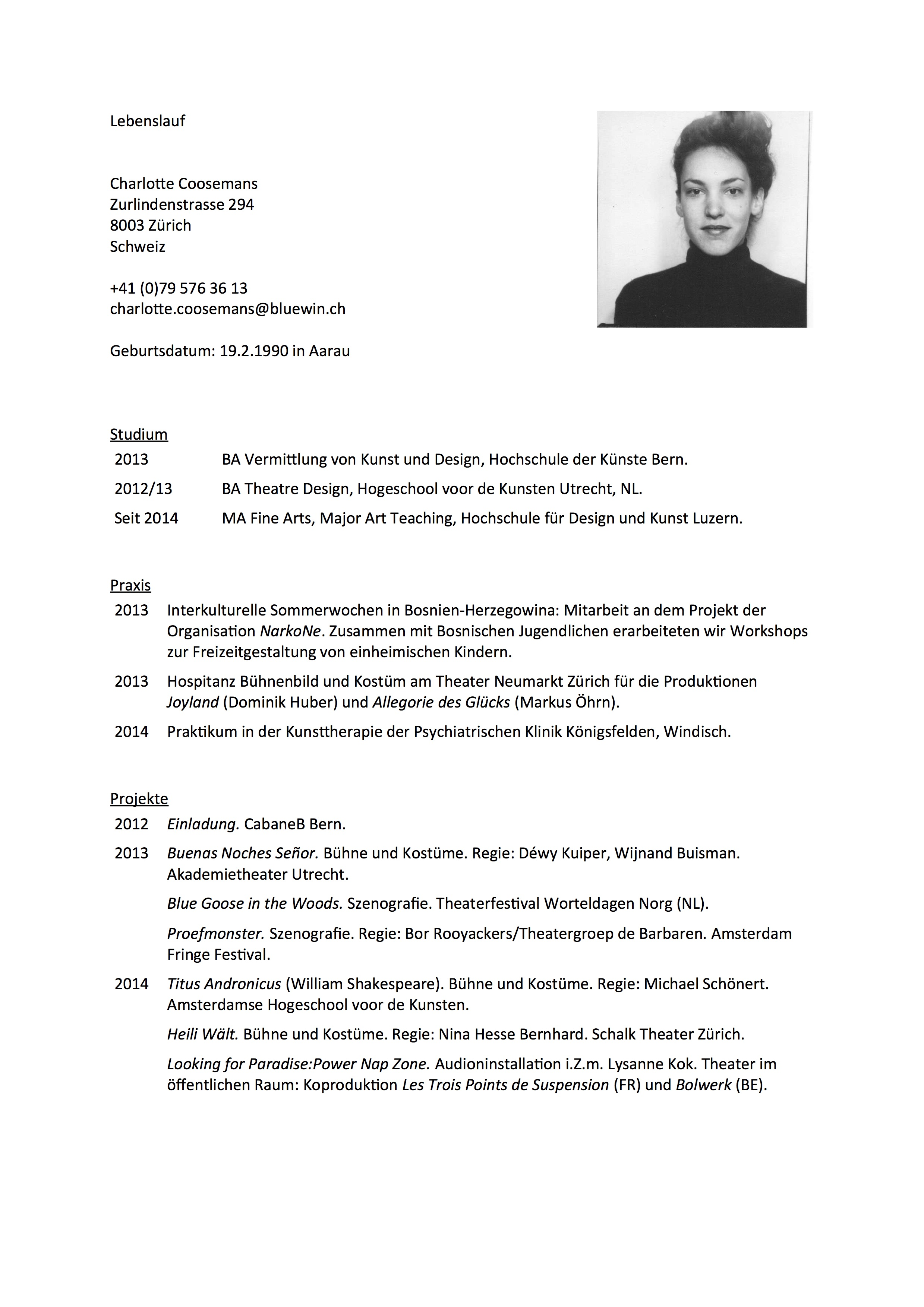 Berühmt Theater Lebenslauf Für Anfänger Zeitgenössisch - Entry Level ...