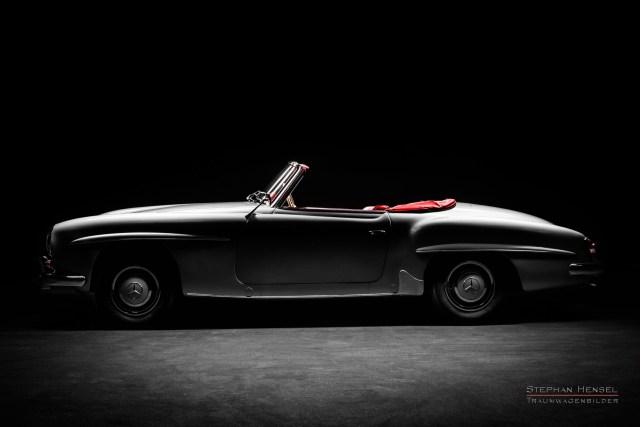 Mercedes-Benz 190 SL, Studioaufnahme, Seitenansicht von links, Autofotograf: Stephan Hensel, Hamburg, Oldtimerfotografie