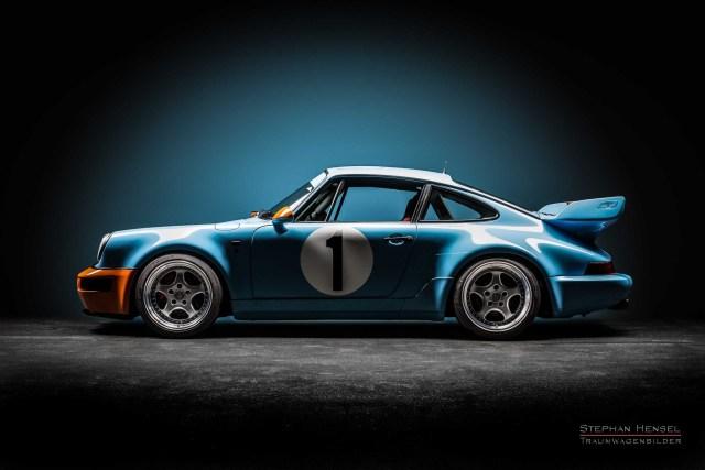 PORSCHE 964 RS 3.8, Seitenansicht von links, Autofotografie: Stephan Hensel, Hamburg