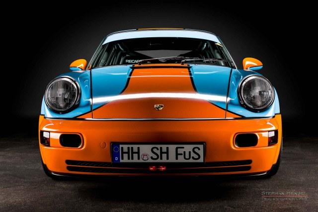 PORSCHE 964 RS 3.8, Ansicht tief frontal, Autofotografie: Stephan Hensel, Hamburg