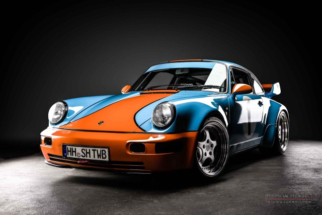 PORSCHE 964 RS 3.8, Frontalansicht von links, Autofotografie: Stephan Hensel, Hamburg