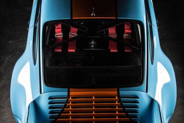 PORSCHE 964 RS 3.8, Ansicht von hinten oben, Stephan Hensel, Autofotograf, Hamburg